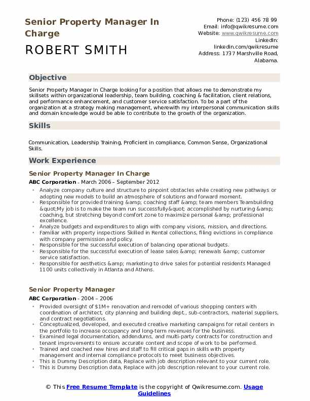 senior property manager resume samples qwikresume pdf salon stylist examples well Resume Property Manager Resume