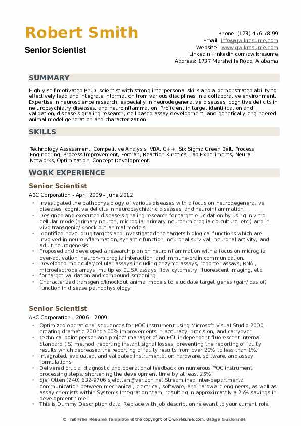 senior scientist resume samples qwikresume for pharmaceutical research and development Resume Resume For Pharmaceutical Research And Development