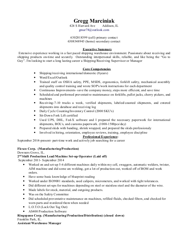 shipping and receiving manager resume description for job interview dialogue example Resume Shipping And Receiving Description For Resume