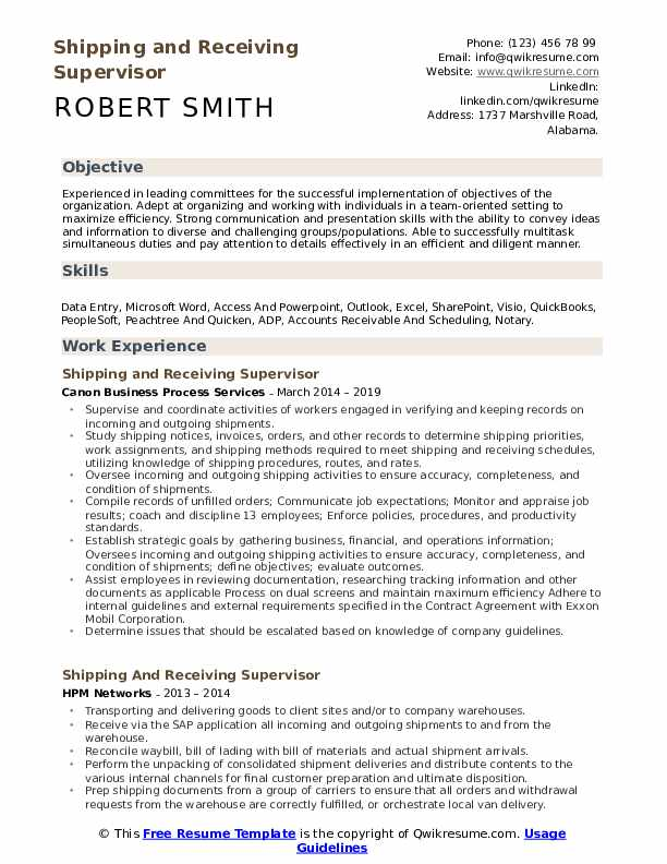 shipping and receiving supervisor resume samples qwikresume description for pdf talent Resume Shipping And Receiving Description For Resume