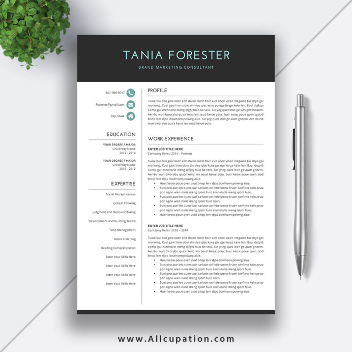 simple resume template word format cv basic cover letter instant tania allcupation Resume Basic Resume Template Word Download