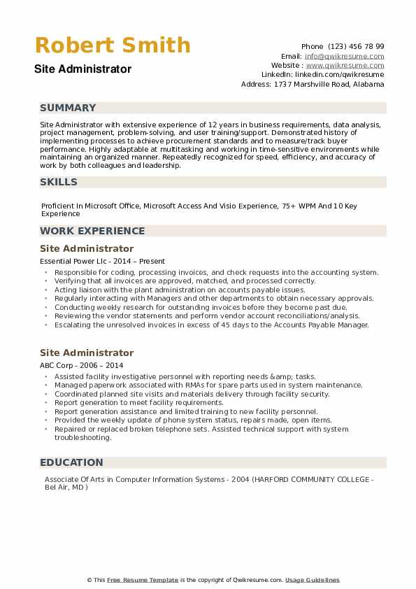 site administrator resume samples qwikresume administrative examples pdf certified Resume Administrative Resume Examples