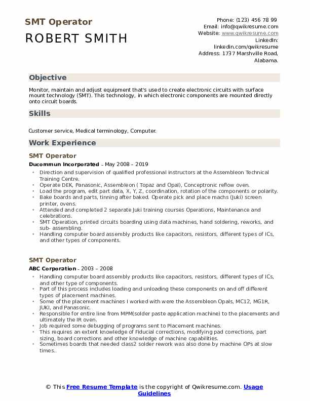 smt operator resume samples qwikresume quality engineer pdf best content writer corporate Resume Smt Quality Engineer Resume