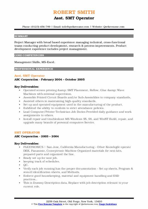 smt operator resume samples qwikresume quality engineer pdf high school examples and Resume Smt Quality Engineer Resume