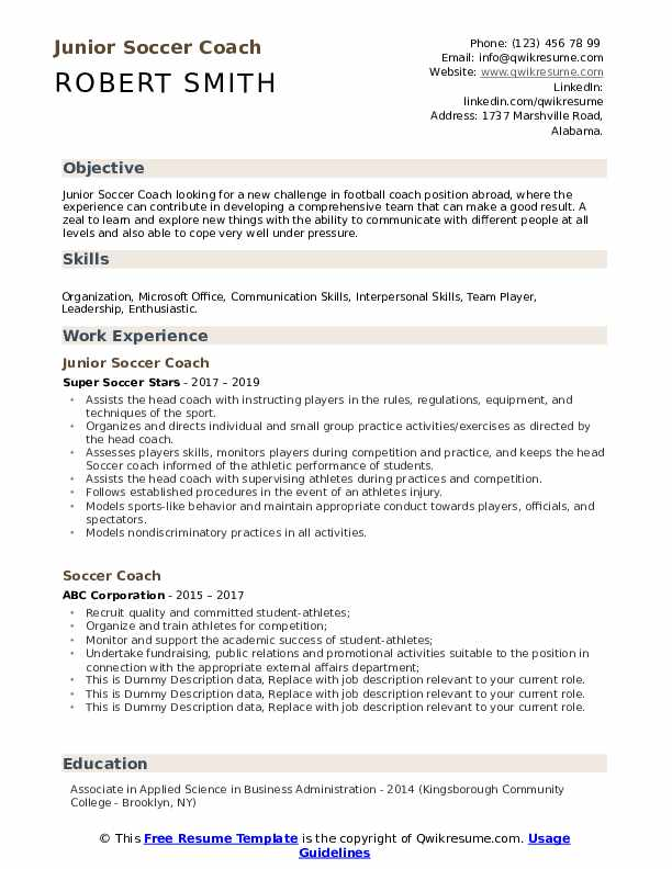 soccer coach resume samples qwikresume assistant pdf entry level driver core Resume Assistant Soccer Coach Resume