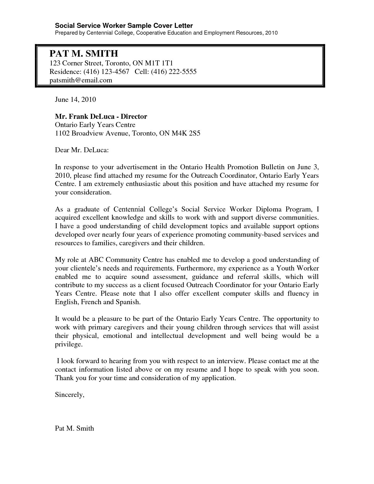 social work cover letter for resume teacher examples and services toronto superintendent Resume Resume And Cover Letter Services Toronto