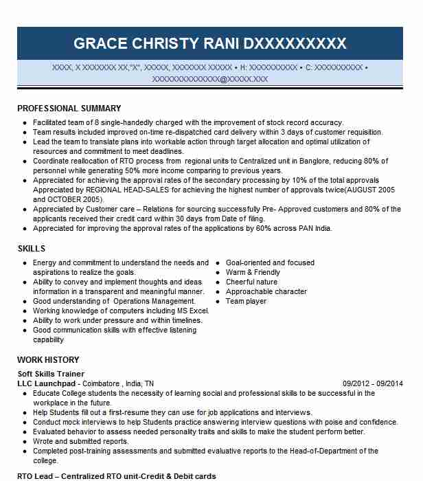 soft skills trainer resume example resumes livecareer for highly organized cover letter Resume Trainer Skills For Resume