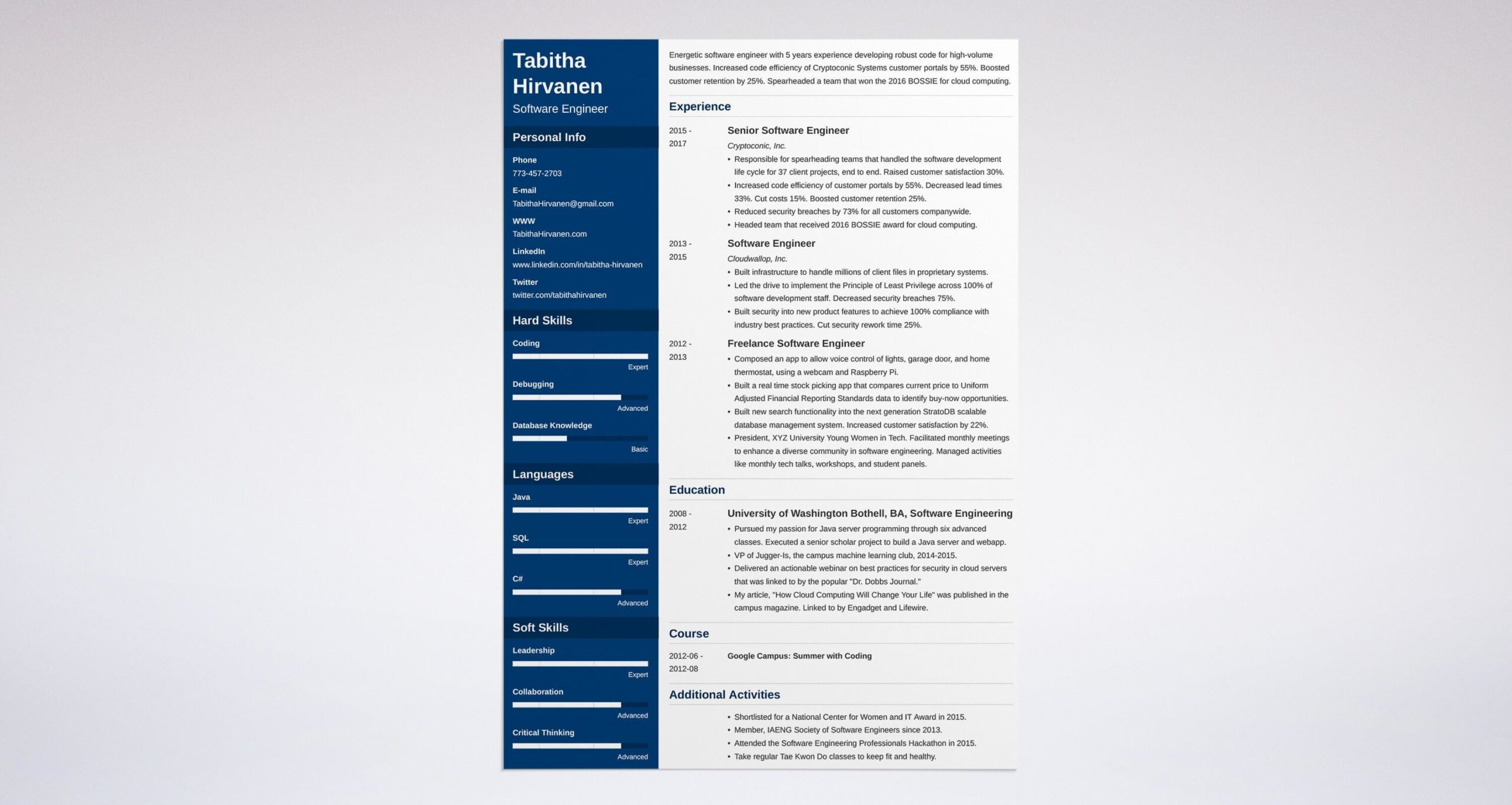 software engineer resume template developer examples word sample city council coordinate Resume Software Engineer Resume Template Word