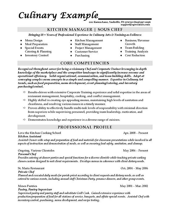 sous chef resume example culinary builder sample chef1a good terms format for nursery Resume Culinary Resume Builder