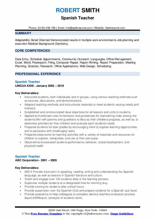spanish teacher resume samples qwikresume gifted and talented pdf professional summary Resume Gifted And Talented Teacher Resume