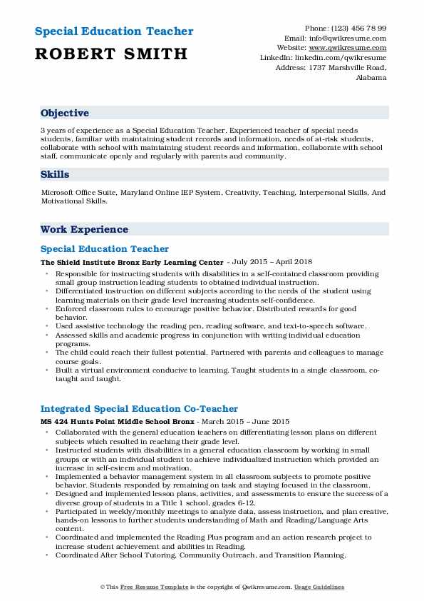 special education teacher resume samples qwikresume pdf awards examples confidentiality Resume Special Education Teacher Resume