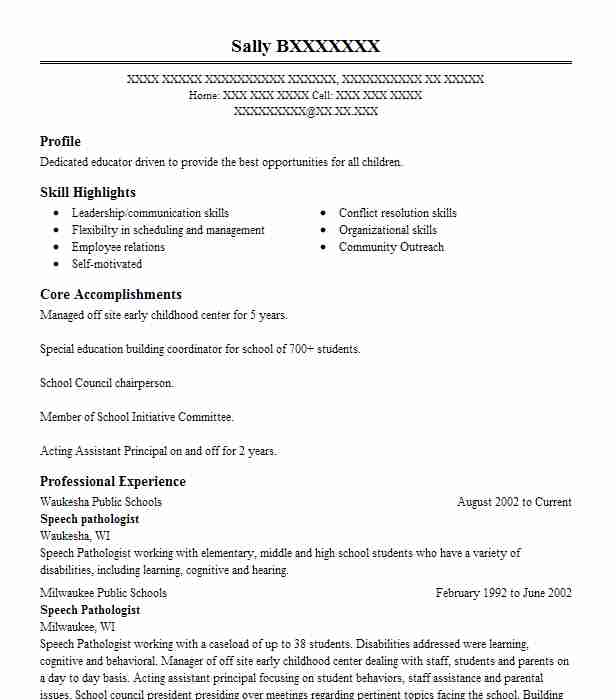 speech pathologist resume example hospital for special surgery new title cara menulis Resume Speech Pathologist Resume Example