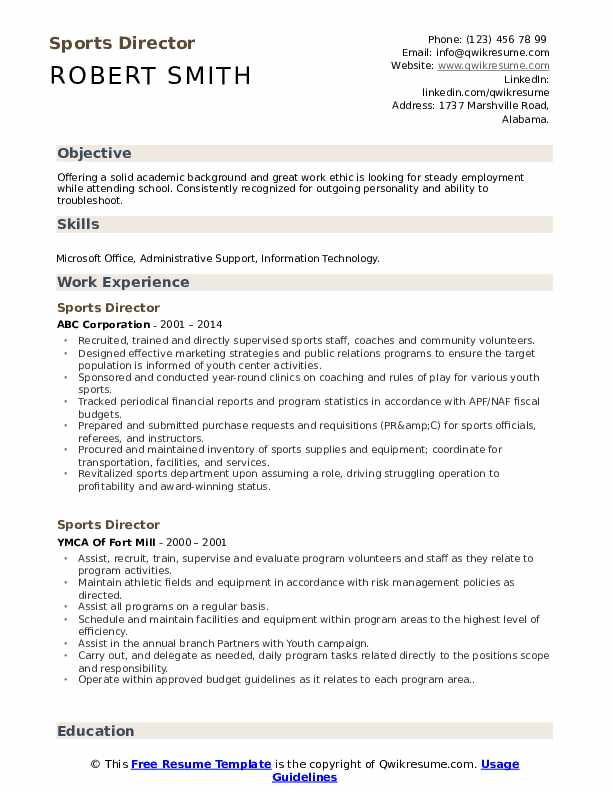 sports director resume samples qwikresume objective for pdf make stand out pharmacist law Resume Objective For Sports Resume