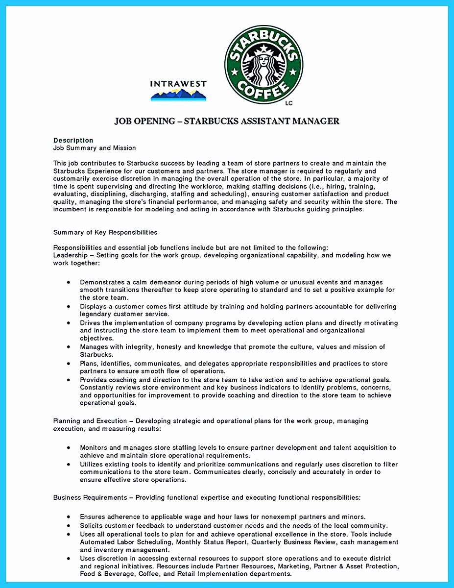starbucks barista job description resume beautiful sophisticated sample that leads to in Resume Starbucks Barista Resume
