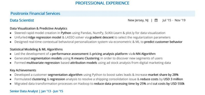 steps to job winning data science resume with python sharma federal example process Resume Data Science With Python Resume