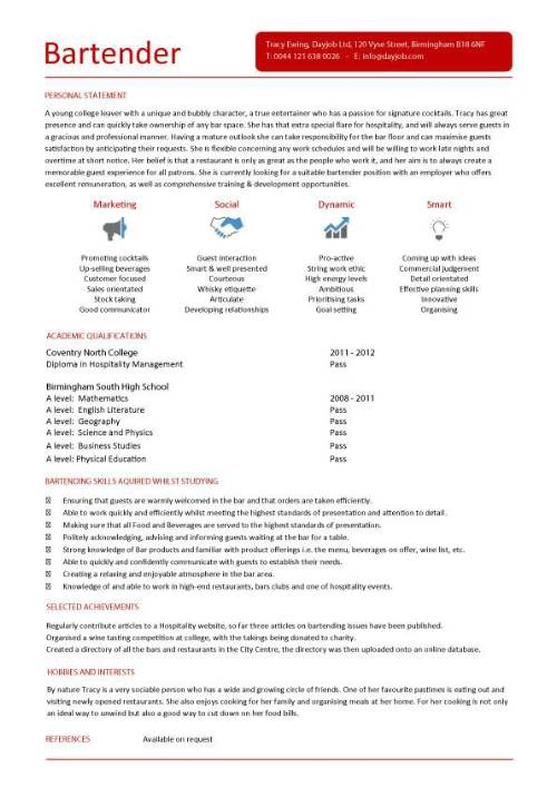 student entry level bartender resume template pic microsoft office knowledge heavy Resume Bartender Resume Template