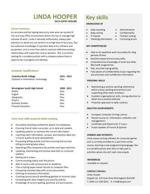 student entry level data resume template job description for pic federal government front Resume Data Entry Job Description For Resume