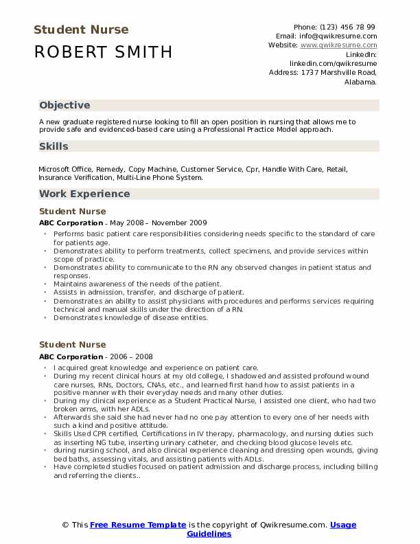 student nurse resume samples qwikresume new grad nursing skills pdf sample subject for Resume New Grad Nursing Skills Resume