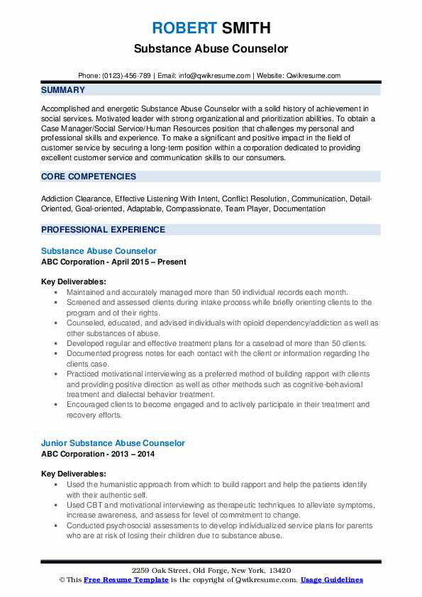 substance abuse counselor resume samples qwikresume entry level pdf computer literate tow Resume Entry Level Substance Abuse Counselor Resume