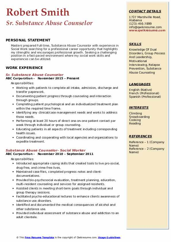 substance abuse counselor resume samples qwikresume entry level pdf high school student Resume Entry Level Substance Abuse Counselor Resume