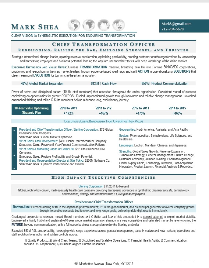 suite senior executive resume samples writing ceo coo cfo healthcare chief transformation Resume Healthcare Executive Resume