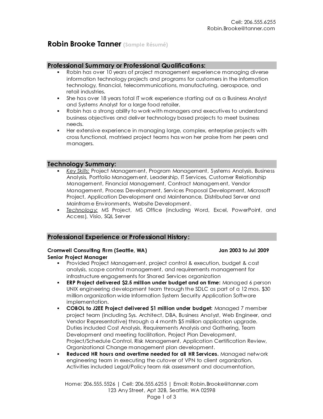 summary resume sample for examples get ideas make drop project manager statement overview Resume Resume Overview Summary