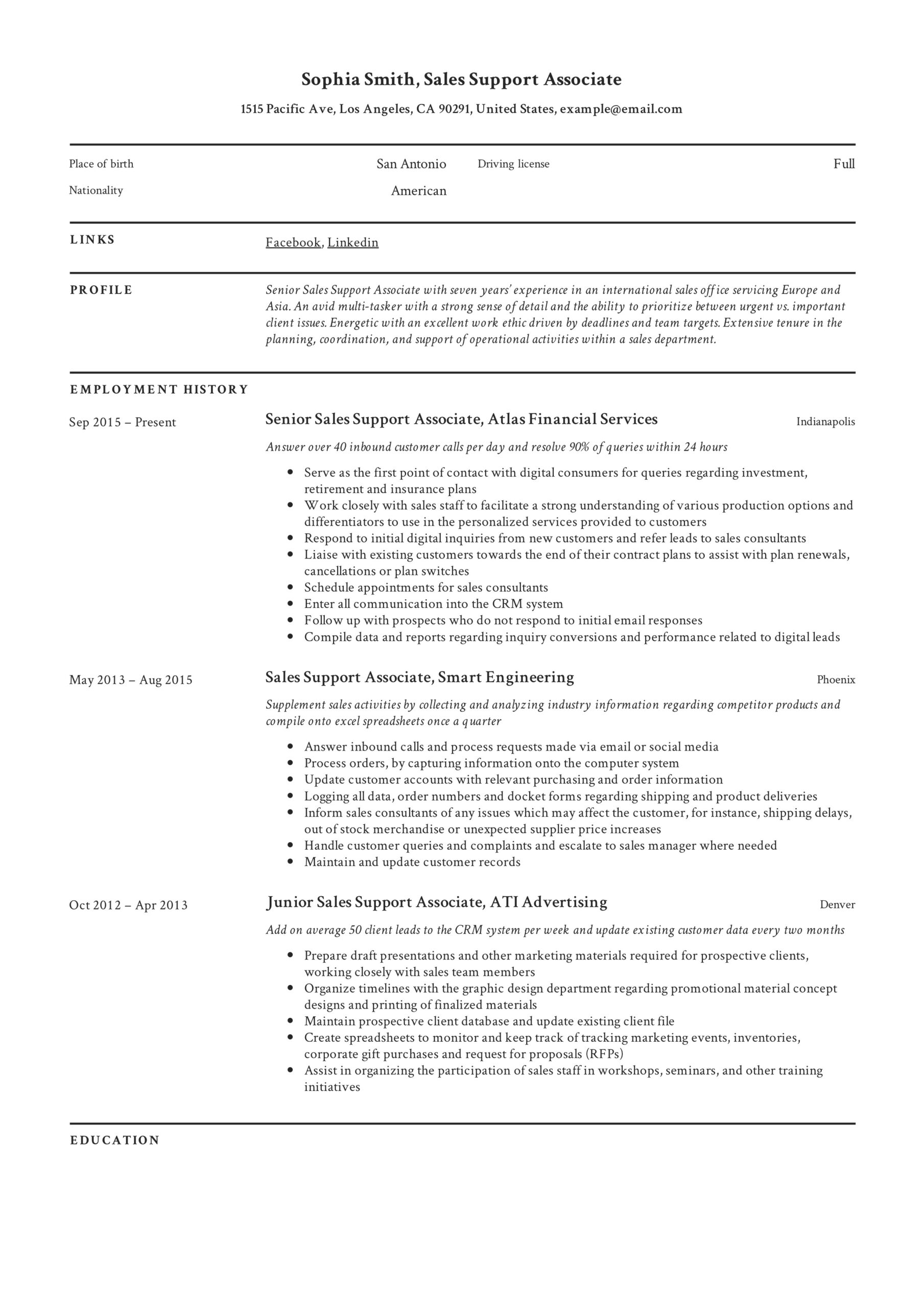 support associate resume guide examples customer example putting sports on freelance Resume Customer Support Associate Resume