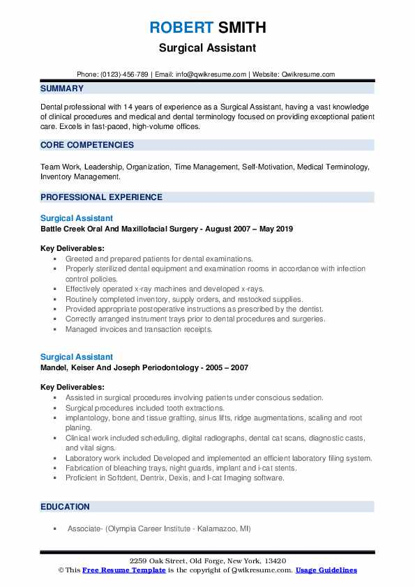 surgical assistant resume samples qwikresume sample pdf costing manager accounting Resume Surgical Assistant Resume Sample