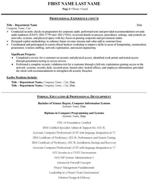 system analyst resume sample template example technology specialist systems p2 for hotel Resume System Analyst Resume Example