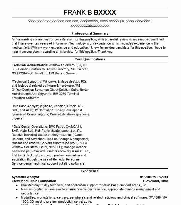systems analyst resume example resumes misc livecareer system introductory cover letter Resume System Analyst Resume Example