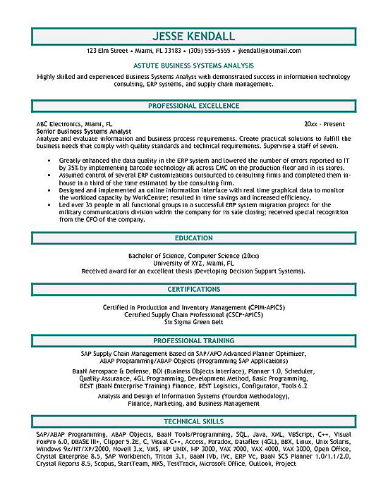 systems analyst resume example system great waitress food service manager mortgage Resume System Analyst Resume Example