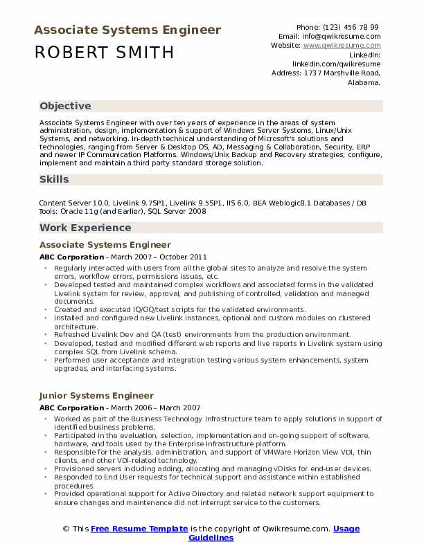 systems engineer resume samples qwikresume standard format for experienced engineers pdf Resume Standard Resume Format For Experienced Engineers