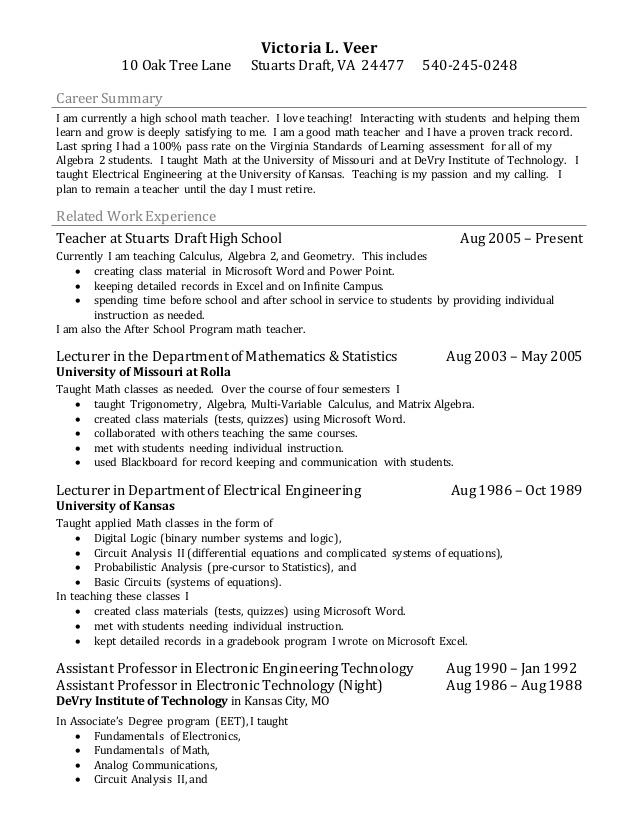 teacher resume bullets teaching residential construction project manager professional Resume Teaching Resume Victoria
