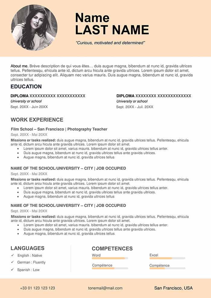 teacher resume sample free cv word format template for teachers law school structure Resume Resume Template For Teachers Free Download