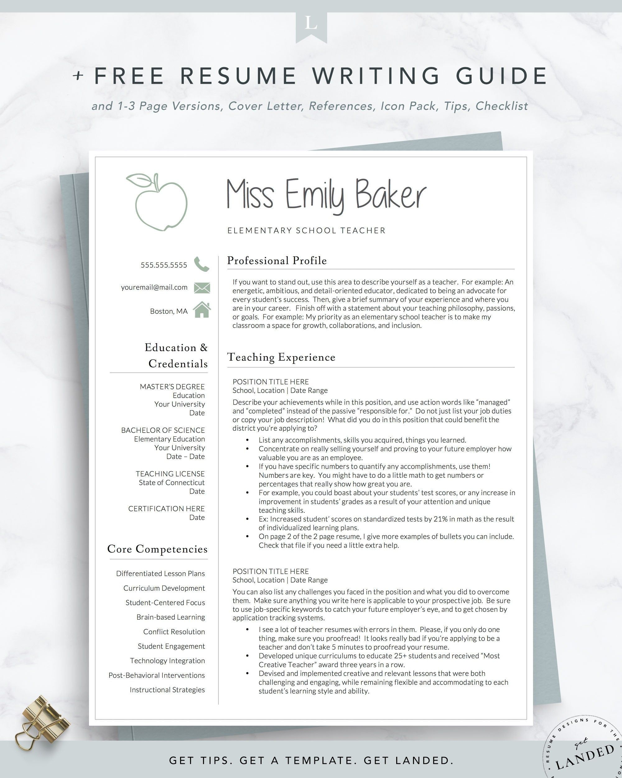 teacher resume template for word apple etsy in elementary teaching teachers free case Resume Resume Template For Teachers Free Download
