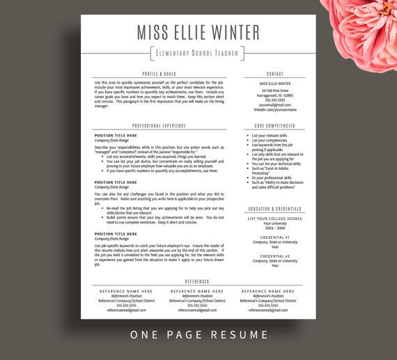 teacher resume template for word cv etsy teaching teachers free customer service hard Resume Resume Template For Teachers Free Download