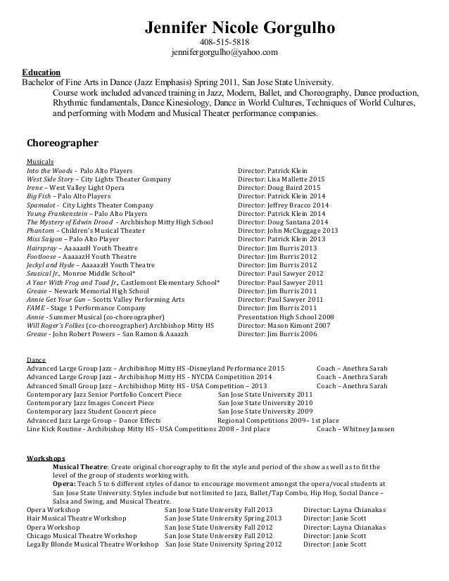 teaching choreography resume dance choreographer teachingchoreography self summary for Resume Dance Choreographer Resume