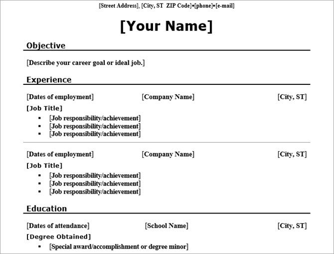 tech tips next free resume templates for word that ll help you land job chronological Resume Chronological Resume Traditional Design