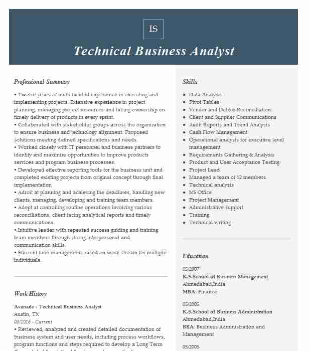 technical business analyst resume example livecareer information technology sample parser Resume Information Technology Business Analyst Resume Sample