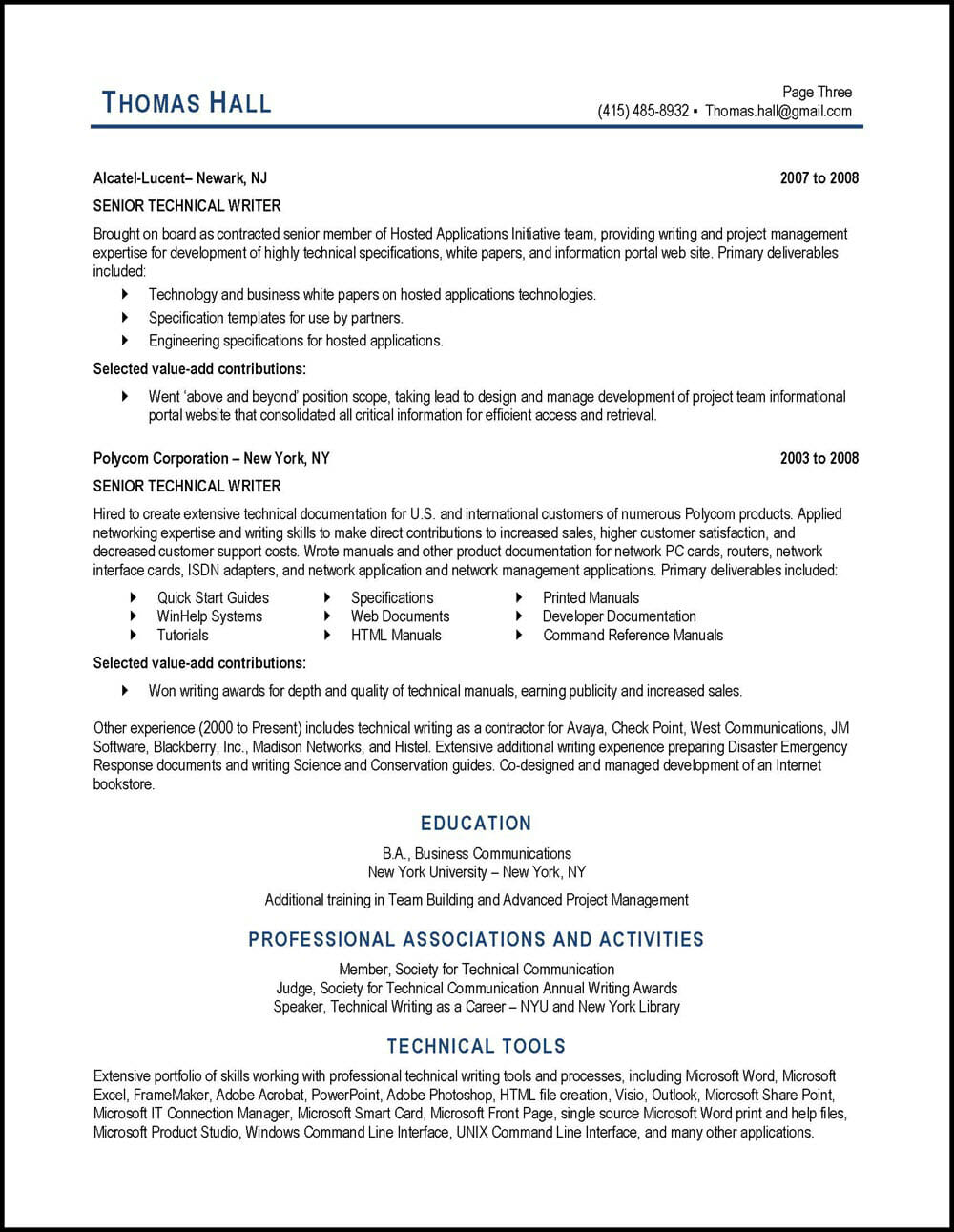 technical writer resume example distinctive career services technology for unskilled Resume Technology Resume Writer