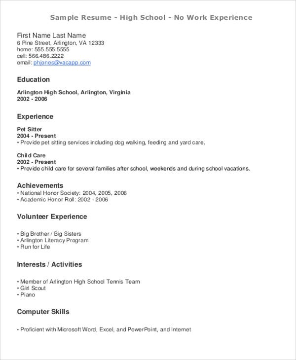 teenage resume templates pdf free premium beginners with little experience no work cognos Resume Beginners Resume With Little Experience