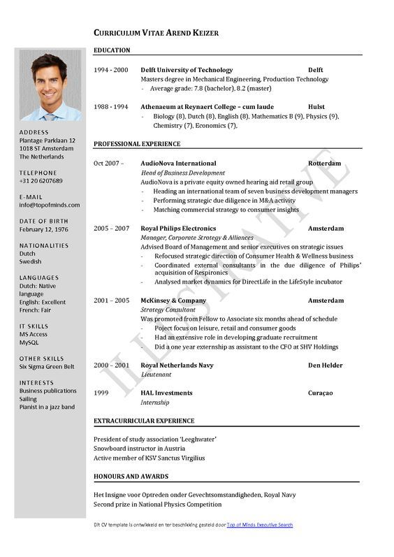 tefl cv examples and advice job resume format free template curriculum vitae standard Resume Standard Resume Template Word