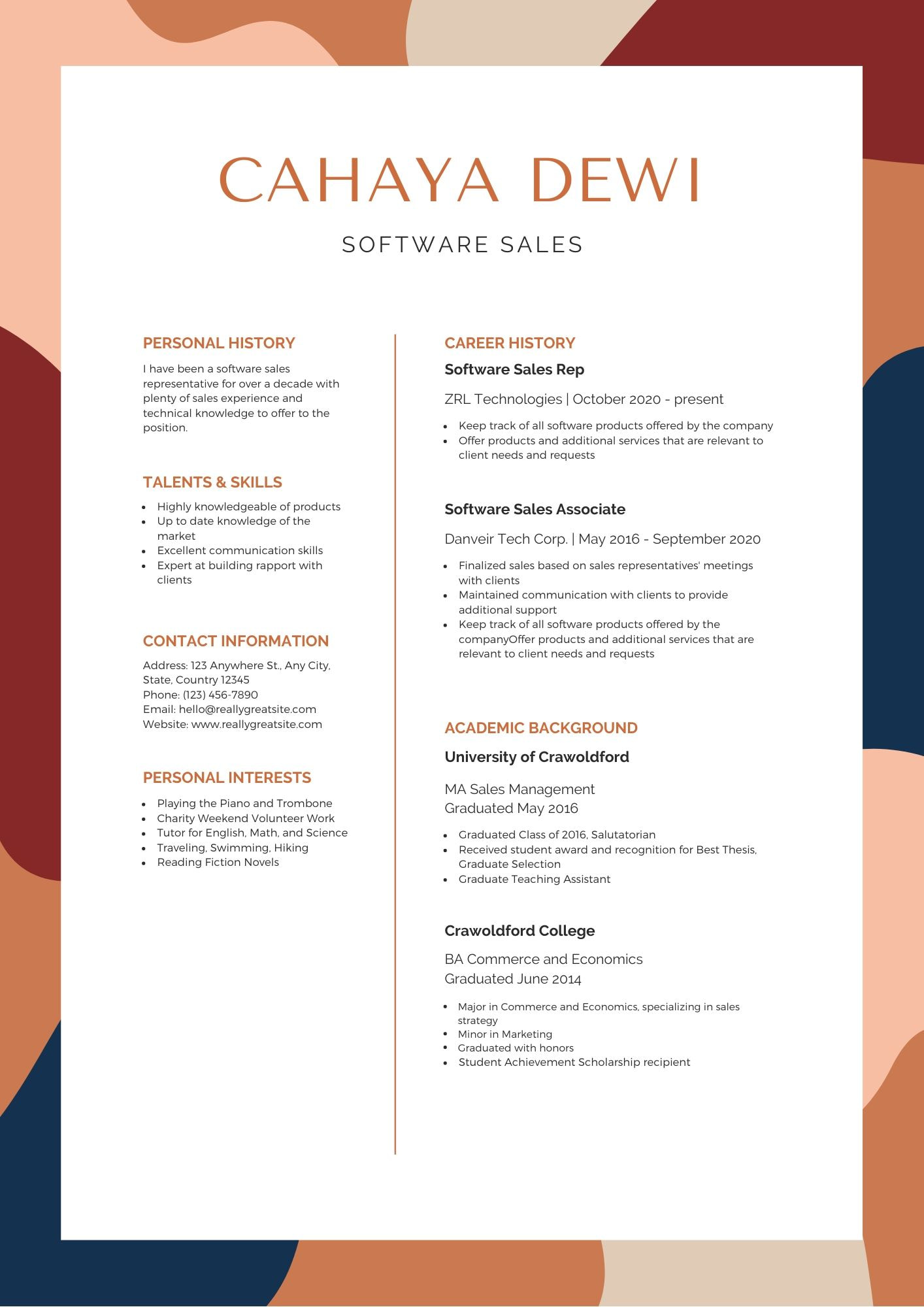 the best resume format canva layout and black creative supply chain samples optimize your Resume Best Resume Layout 2020