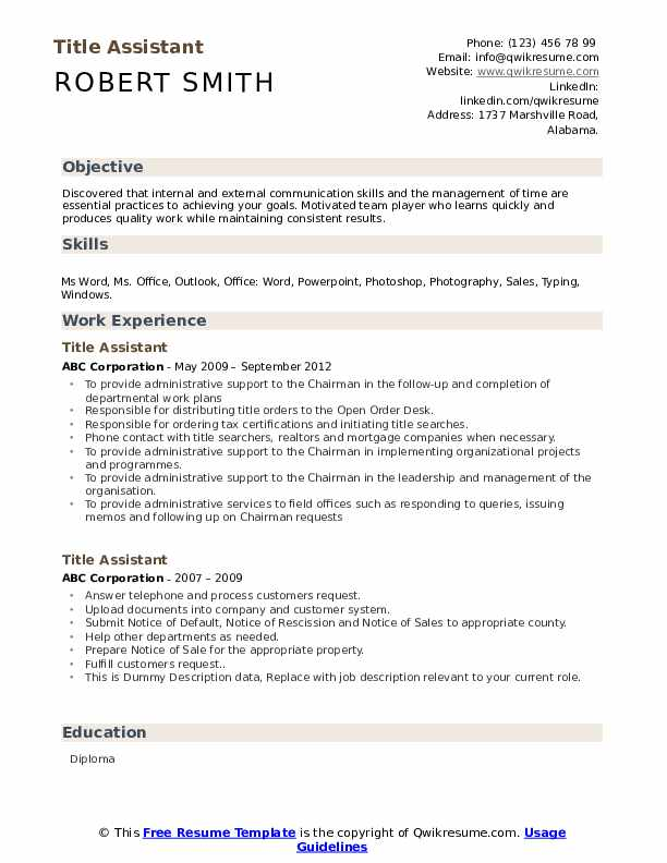 title assistant resume samples qwikresume skills for pdf administrative templates word Resume Skills Title For Resume