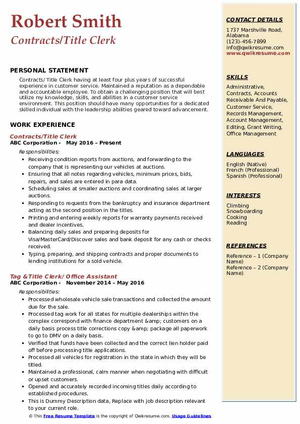 title clerk resume samples qwikresume skills for pdf hardware and networking computer Resume Skills Title For Resume