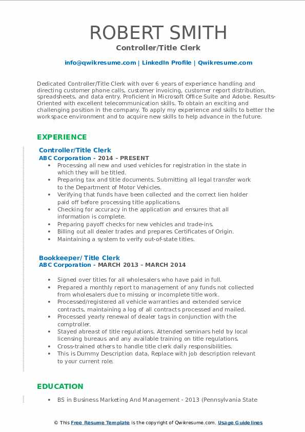 title clerk resume samples qwikresume skills for pdf sample experienced administrative Resume Skills Title For Resume