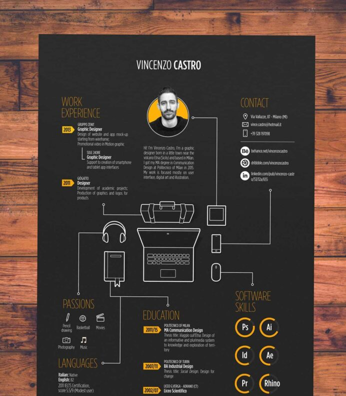 to create an infographic resume that ll get you hired inspiring examples piktochart Resume Create Infographic Resume