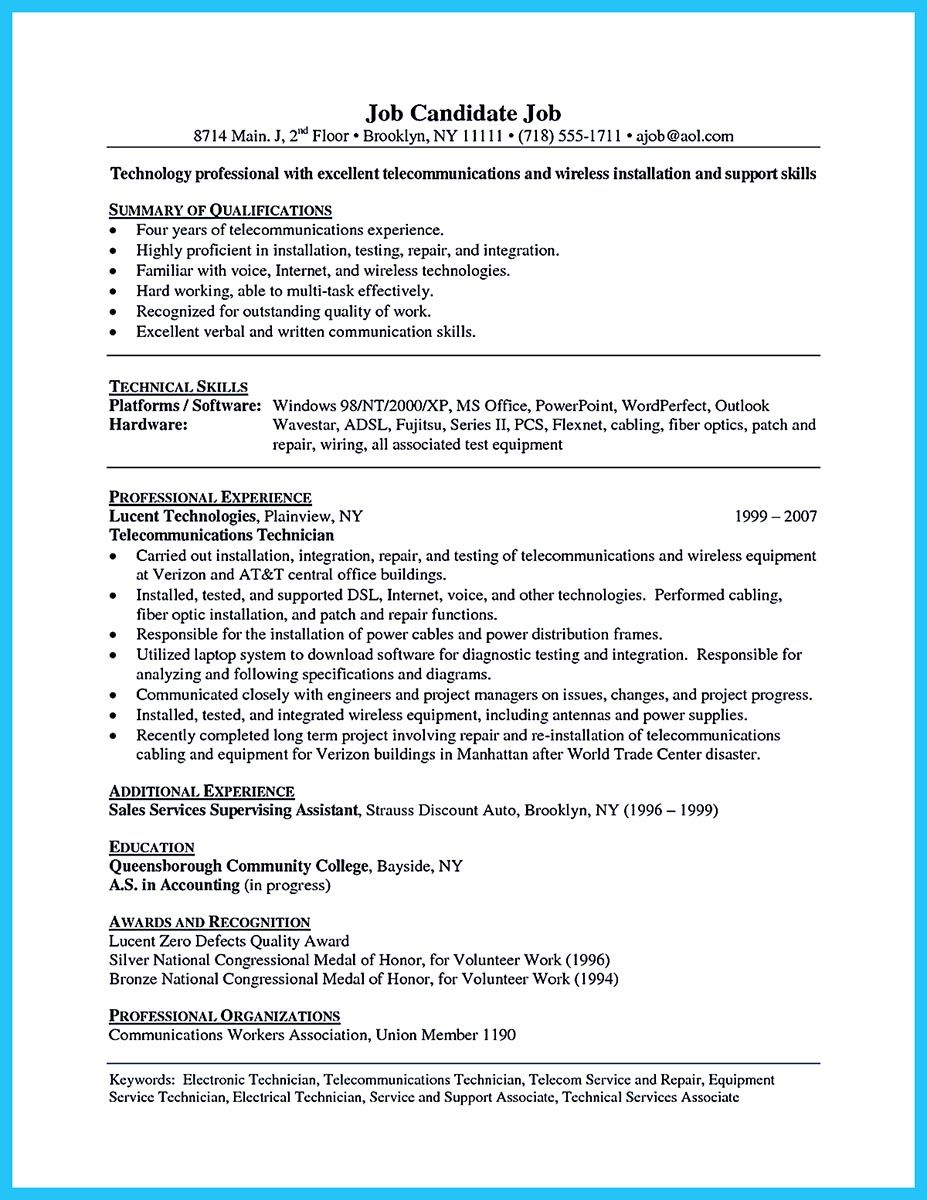 to make cable technician resume that is really perfect writing lesson plans lessons Resume Cable Technician Resume