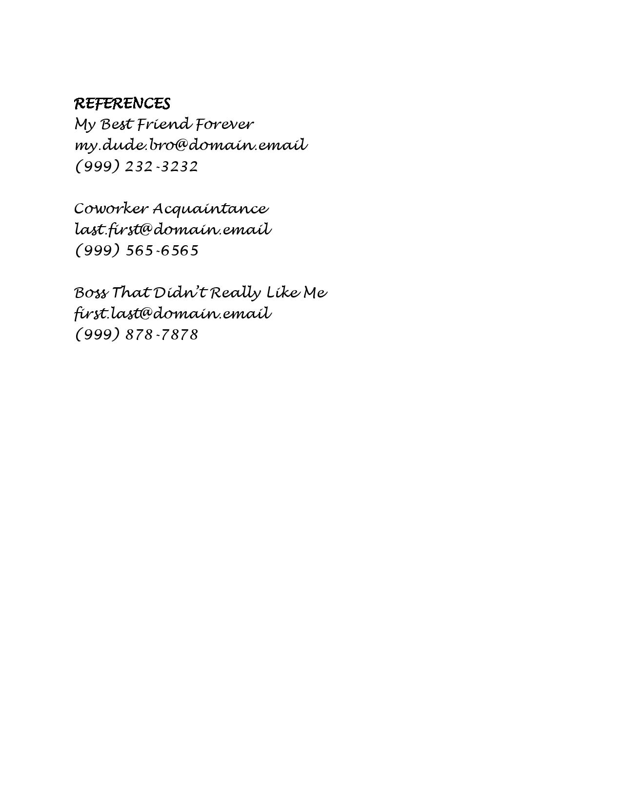 to make resume employers notice lucidpress reference section of example resume2 work Resume Reference Section Of Resume