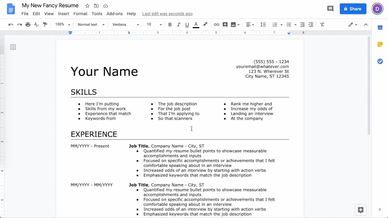 to make resume in google docs latest making on lcsw sample for graduate school Resume Making A Resume On Google Docs